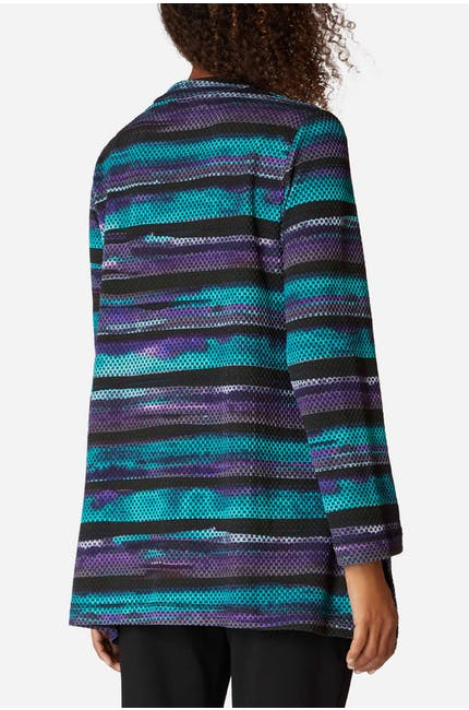 Horizon Stripe Print Jersey Top