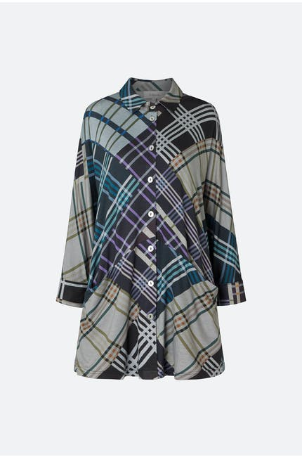 Patchwork Check Jersey Shirt