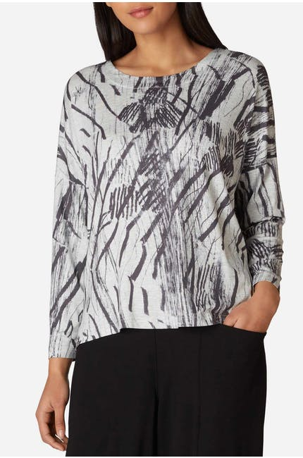 Photo of Charcoal Print Jersey Boxy Top