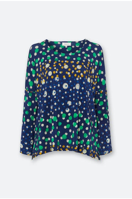 Watercolour Spot Jersey Top