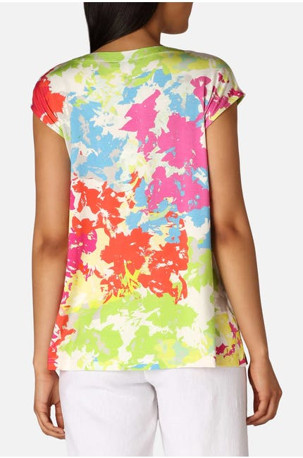 Paint Splatter Jersey Top