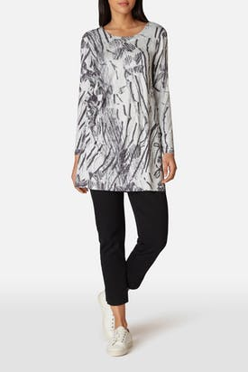 Photo of Charcoal Print Jersey Tunic
