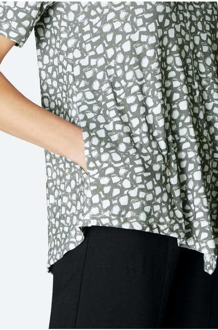 Pebble Print Point Tunic