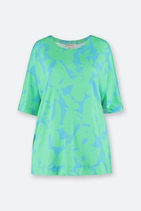 Photo of Abstract Flower Jersey Top