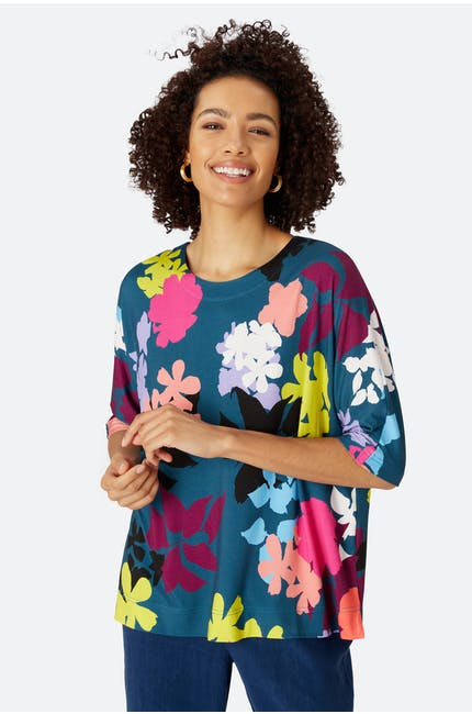 Photo of Floral Stencil Print Top