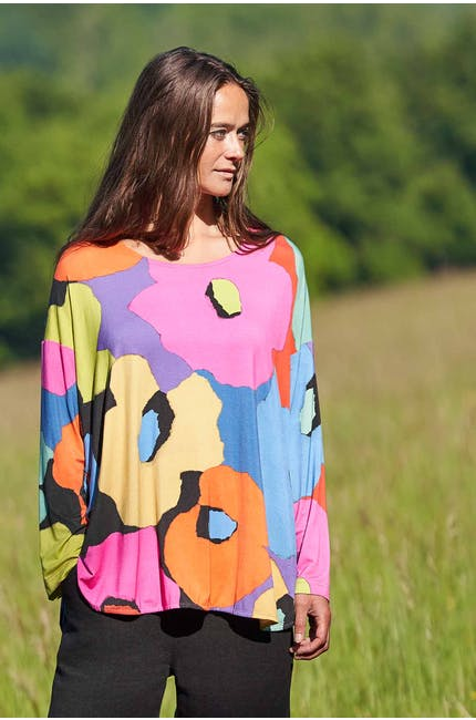 Photo of Modernist Floral Jersey Top