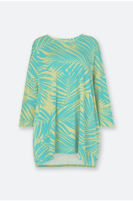 Photo of Tropical Palm Print Jersey Top