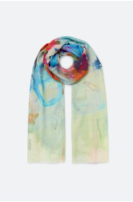 Blurred Floral Scarf