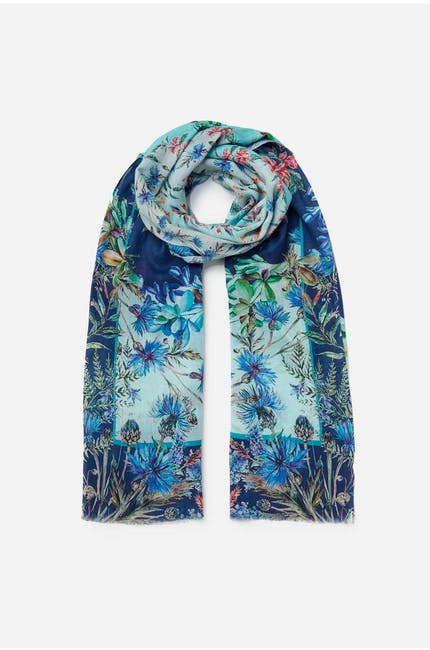 Photo of Aqua Floral Scarf