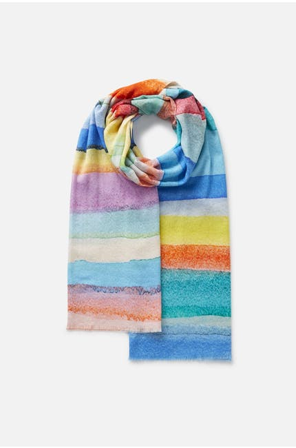 Photo of Rainbow Stripe Scarf