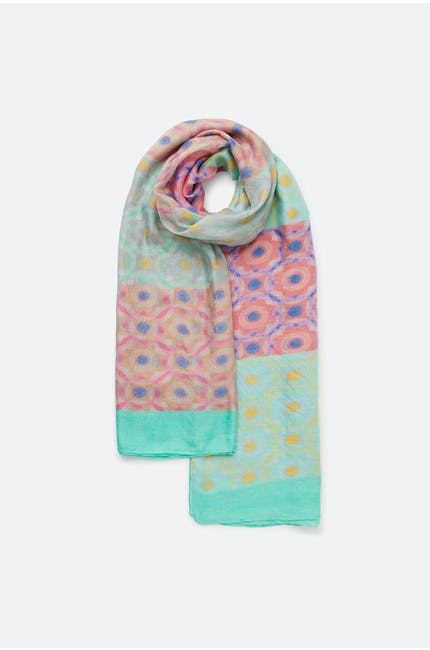 Photo of Silk Geometric Scarf