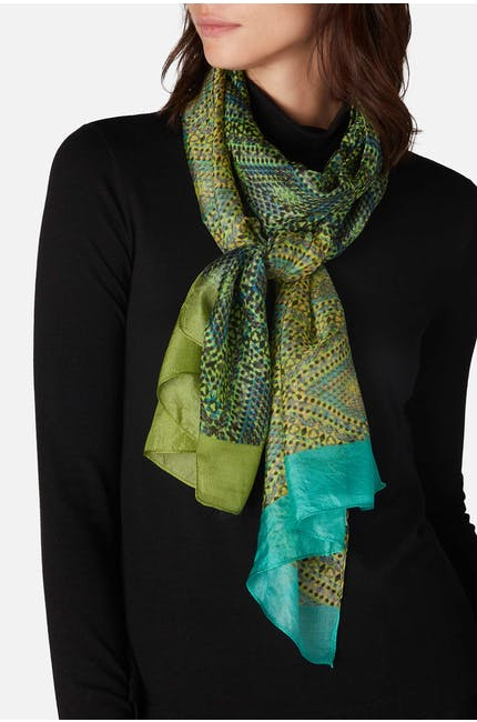 Photo of Paint Speckled Silk Scarf
