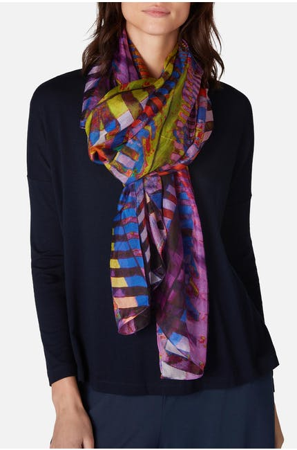 Photo of Pianist Print Silk Scarf