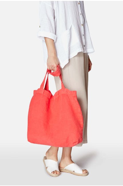 Blue, Red Canvas Bag