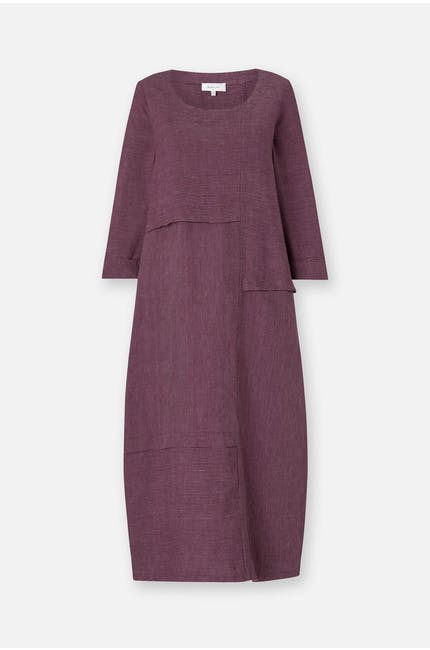 Fine Stripe Linen Dress