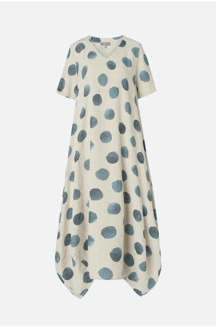 Painters Spot Linen Bubble Dress