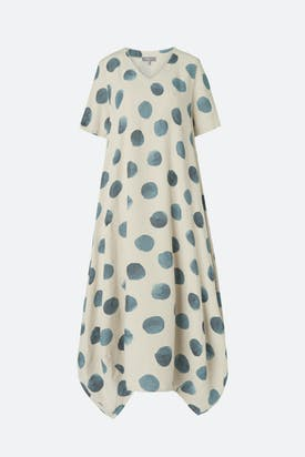 Photo of Painters Spot Linen Bubble Dress