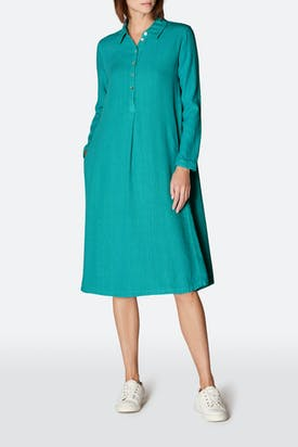 Photo of Textured Linen Shirt Dress
