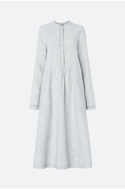 Ticking Stripe Linen Dress