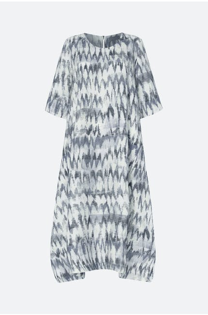 Ikat Stripe Linen Dress