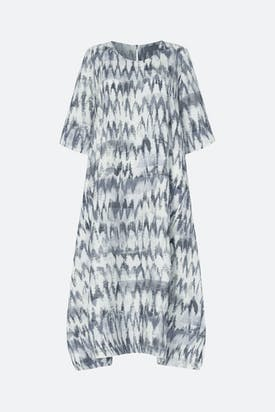 Photo of Ikat Stripe Linen Dress