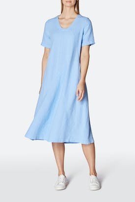 Photo of Panelled A-Line Linen Dress