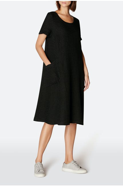 Waffle Linen Pocket Dress