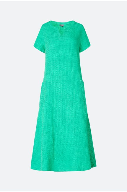Photo of Waffle Linen Flared Dress