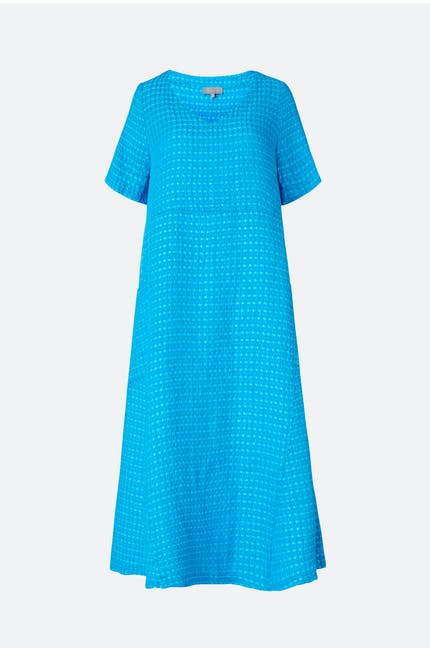 Twisted Waffle Linen Dress
