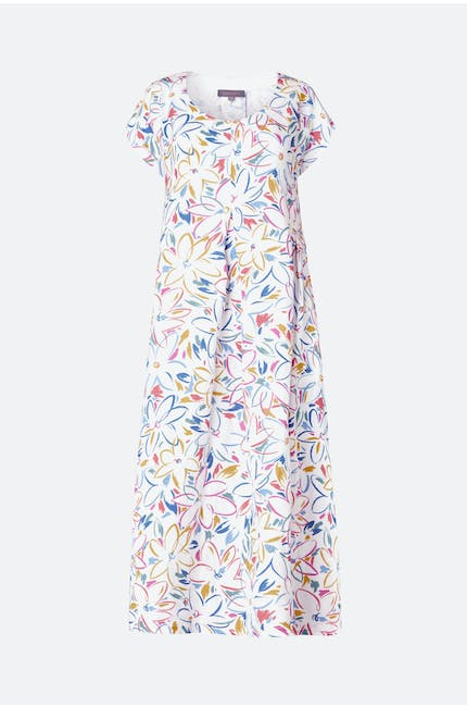 Photo of Forties Floral Print Linen Dress