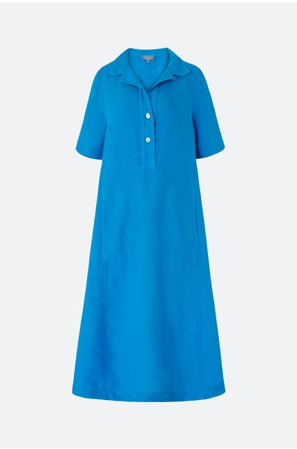Organza Linen Shirt Dress