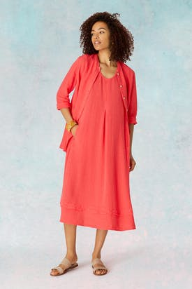 Photo of Light Crinkle Linen Dress