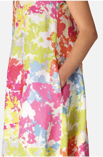 Paint Splatter Linen Dress