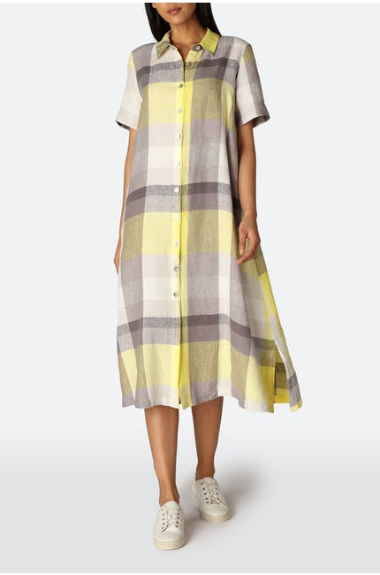 Madras Check Shirt Dress