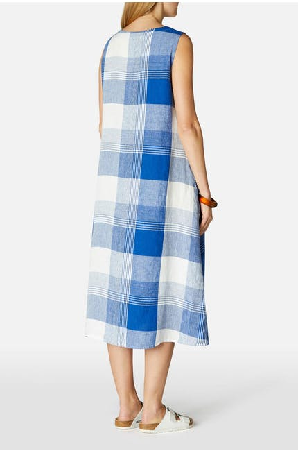 Giant Check Sleeveless Dress