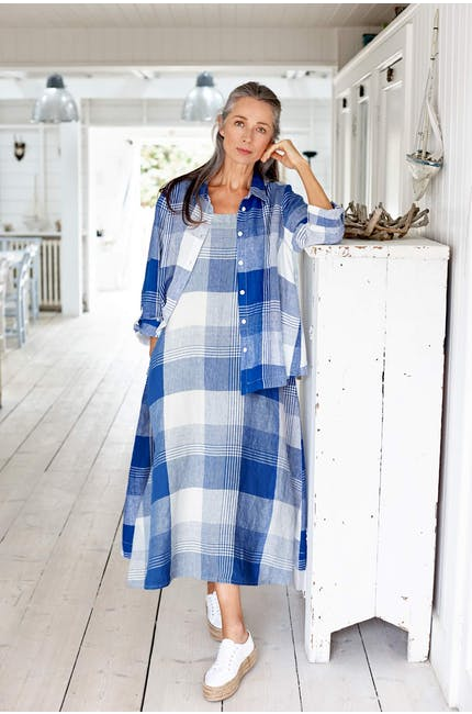 Photo of Giant Check Sleeveless Dress