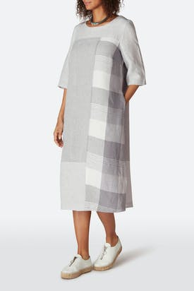 Photo of Giant Check Patched Dress