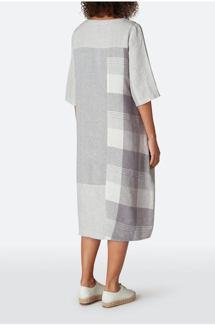 Giant Check Patched Dress