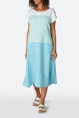 Photo of Colour Block Linen Dress