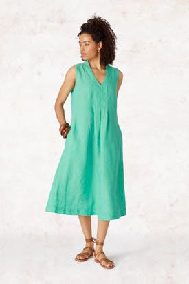Photo of Cross Dye Sleeveless Linen Dress
