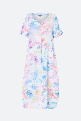 Photo of Dapple Print Linen Dress