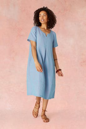 Photo of Cross Dye Linen Bubble Dress