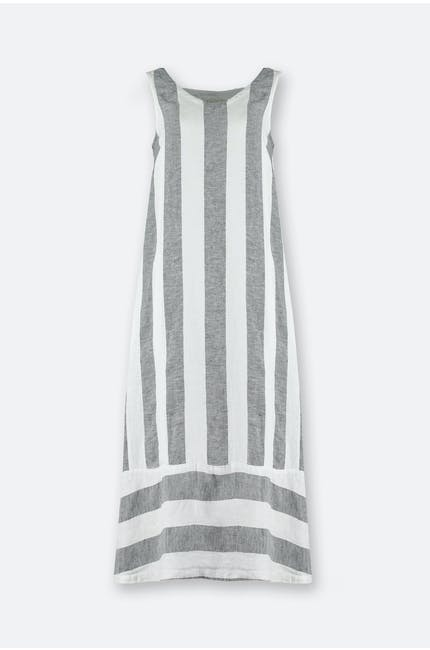 Photo of Chambray Stripe Linen Dress
