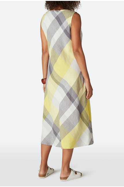 Madras Check Sleeveless Dress