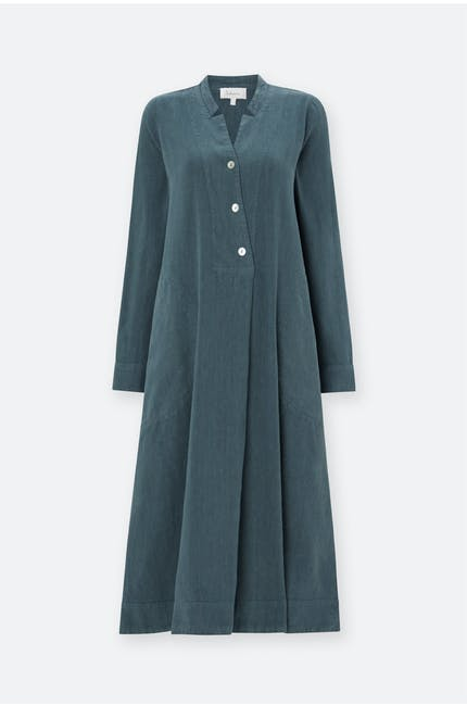 Textured Linen Pleat Dress