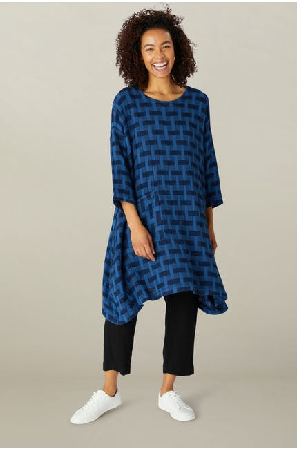 Photo of Jacquard Linen Relaxed Dress