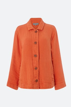 Photo of Linen Weave Crinkle Jacket