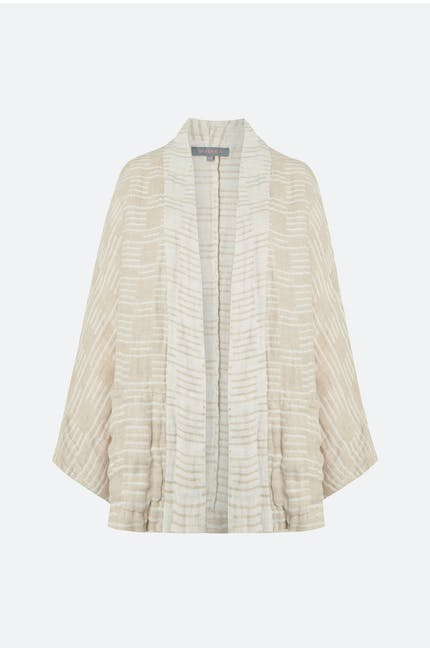 Photo of Double Natural Stripe Linen Jacket