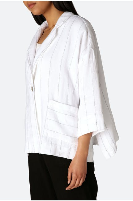 Twisted Pin Stripe Boxy Jacket