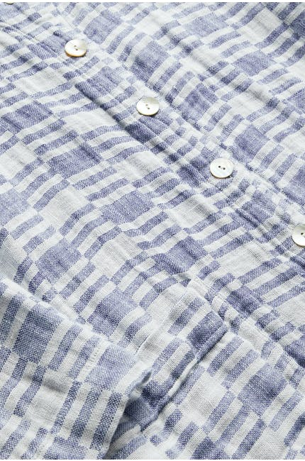 Irregular Check Linen Jacket